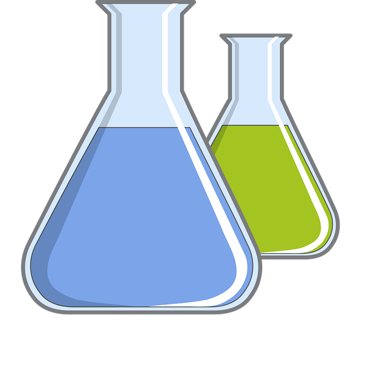 Chemistry: Flasks Clipart